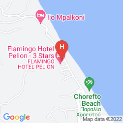 Mapa FLAMINGO HOTEL PELION