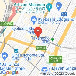 Mapa CONRAD TOKYO