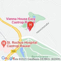 Mapa VIENNA HOUSE EASY CASTROP-RAUXEL