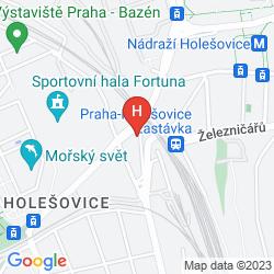 Mapa A&O HOSTEL PRAHA HOLESOVICE