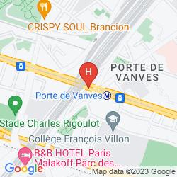 Mapa NOVOTEL SUITES PARIS EXPO PORTE DE VERSAILLES