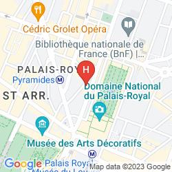 Mapa PAVILLON LOUVRE RIVOLI