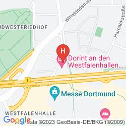 Mapa DORINT AN DEN WESTFALENHALLEN DORTMUND