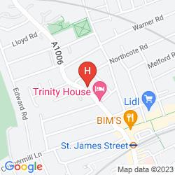 Mapa TRINITY HOUSE