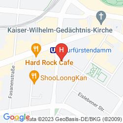 Mapa SOFITEL BERLIN KURFUERSTENDAMM
