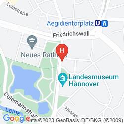 Mapa MERCURE HANNOVER CITY