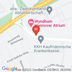 Mapa WYNDHAM HANNOVER ATRIUM