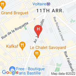 Mapa GRAND HOTEL NOUVEL OPERA