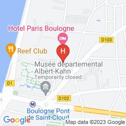 Mapa PARIS BOULOGNE