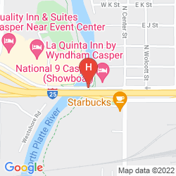 Mapa NATIONAL 9 CASPER - SHOWBOAT