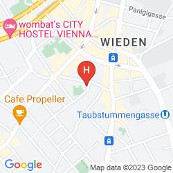 Mapa ALLYOUNEED HOTEL VIENNA4