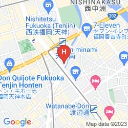 Mapa  CASVI TENJIN