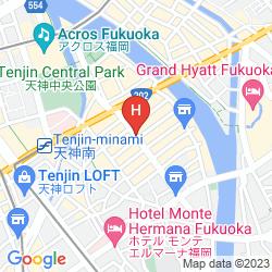 Mapa  WBF FUKUOKA TENJIN MINAMI