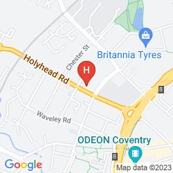 Mapa DAYS HOTEL COVENTRY