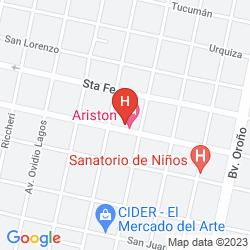 Mapa ARISTON HOTEL