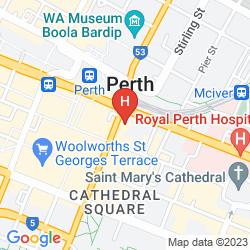 Mapa ADINA APARTMENT HOTEL PERTH BARRACK PLAZA