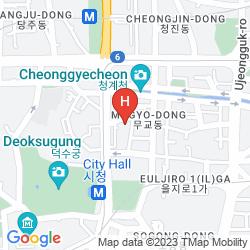 Mapa BEST WESTERN NEW SEOUL