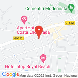 Mapa GHT OASIS PARK & SPA