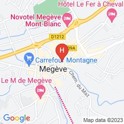 Mapa COEUR DE MEGEVE