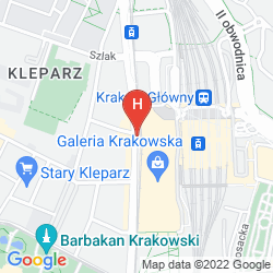 Mapa VIENNA HOUSE ANDEL'S CRACOW