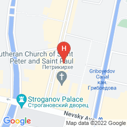 Mapa NEVSKY HOTEL GRAND
