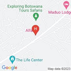 Mapa ALFA ACCOMMODATION
