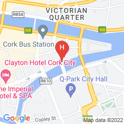 Mapa CLAYTON HOTEL CORK CITY