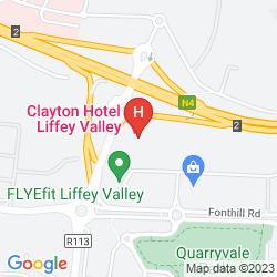 Mapa CLARION HOTEL DUBLIN LIFFEY VALLEY