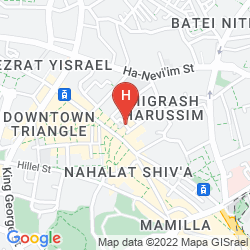 Mapa IBIS JERUSALEM CITY CENTER