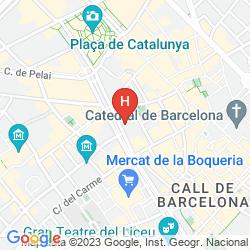 Mapa CITADINES RAMBLAS BARCELONA
