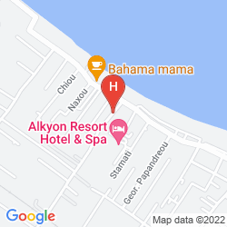 Mapa ALKYON RESORT HOTEL & SPA