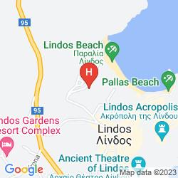 Mapa MITSIS LINDOS MEMORIES RESORT & SPA - ONLY ADULTS