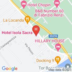 Mapa ISOLA SACRA ROME AIRPORT