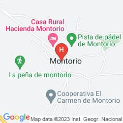Mapa HOSTAL MONTORIO