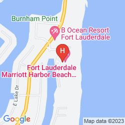 Mapa FORT LAUDERDALE MARRIOTT HARBOR BEACH RESORT & SPA