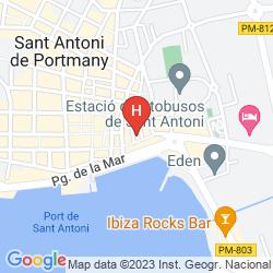 Mapa THE RED HOTEL BY IBIZA FEELING