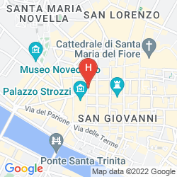Mapa HELVETIA&BRISTOL FIRENZE - STARHOTELS COLLEZIONE