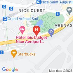 Mapa NOVOTEL NICE ARENAS AIRPORT