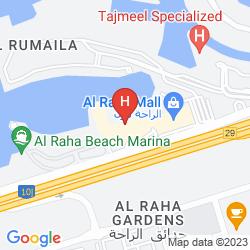 Mapa AL RAHA BEACH