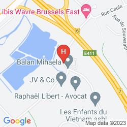 Mapa IBIS WAVRE BRUSSELS EAST