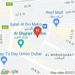 Mapa AL NAKHEEL HOTEL APARTMENTS