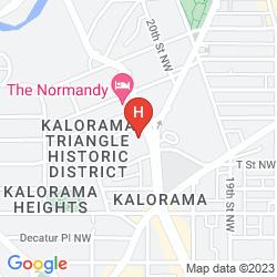 Mapa CHURCHILL HOTEL NEAR EMBASSY ROW