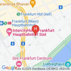 Mapa LE MÉRIDIEN FRANKFURT