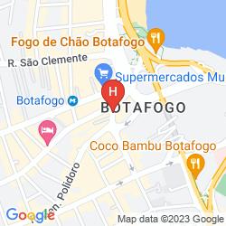Mapa MERCURE BOTAFOGO MOURISCO