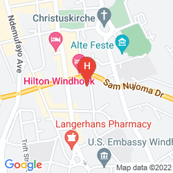 Mapa AVANI WINDHOEK HOTEL & CASINO