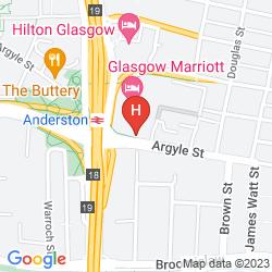 Mapa GLASGOW MARRIOTT