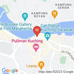 Mapa HILTON BATANG AI LONGHOUSE RESORT