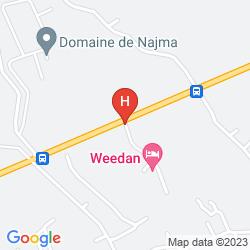 Mapa WEEDAN FERME D´HôTES