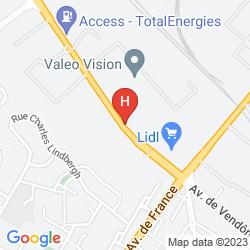 Mapa BALLADINS BLOIS NORD VILLEBAROU CONFORT