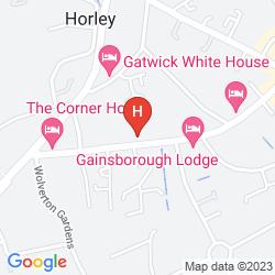Mapa THE GATWICK BELMONT